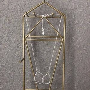 Intertwined hoop necklace